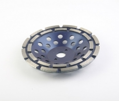double row diamond cup wheel for concrete grinding