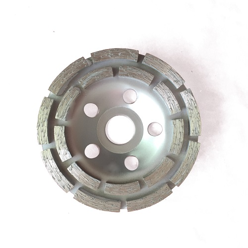 double row diamond cup wheel for stone
