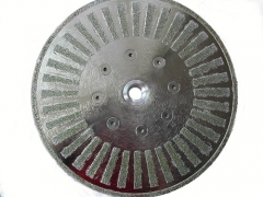 electroplating diamond cutting disc with segment decoration