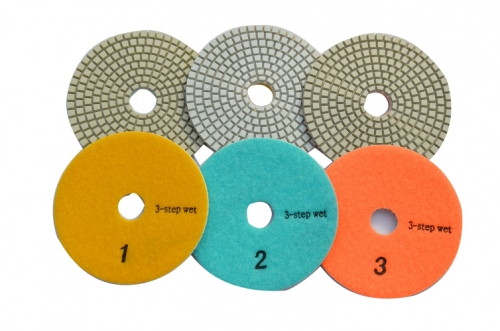 3-Step polishing pad for ceramic-wet