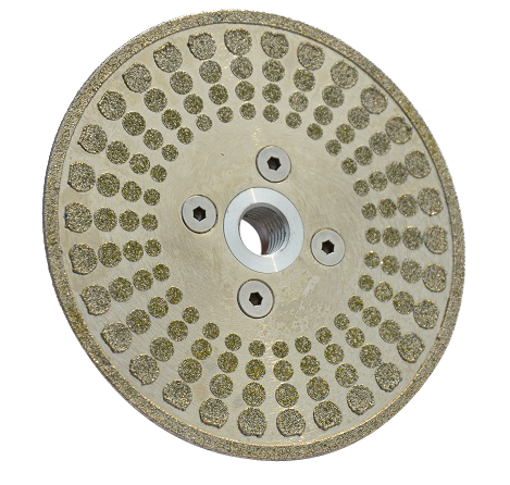 electroplating diamond cutting disc with round spot surface
