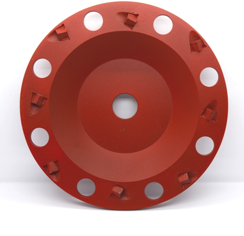 PCD cup wheel for concrete floor preparation